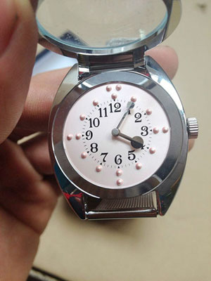 montre braille